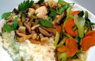 Stir-fried Fish with Mushrooms and Ginger