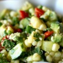 Grilled Corn and Avocado Salad